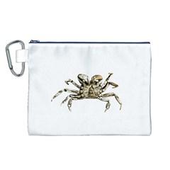 Dark Crab Photo Canvas Cosmetic Bag (l) by dflcprints