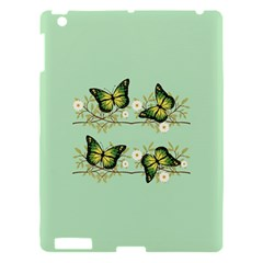 Four Green Butterflies Apple Ipad 3/4 Hardshell Case by linceazul