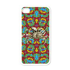 Geometric Multicolored Print Apple Iphone 4 Case (white) by dflcprints
