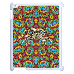 Geometric Multicolored Print Apple Ipad 2 Case (white) by dflcprints