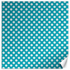Sleeping Kitties Polka Dots Teal Canvas 16  X 16   by emilyzragz