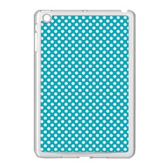 Sleeping Kitties Polka Dots Teal Apple Ipad Mini Case (white) by emilyzragz