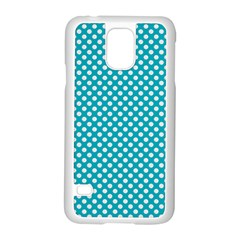 Sleeping Kitties Polka Dots Teal Samsung Galaxy S5 Case (white) by emilyzragz