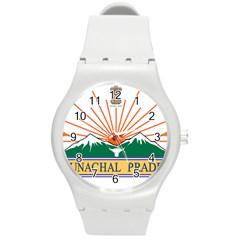 Indian State Of Arunachal Pradesh Seal Round Plastic Sport Watch (m) by abbeyz71