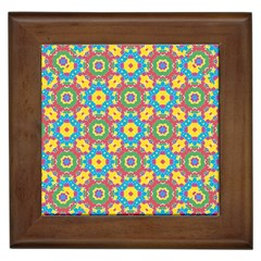 Geometric Multicolored Print Framed Tiles by dflcprints