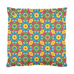 Geometric Multicolored Print Standard Cushion Case (two Sides) by dflcprints
