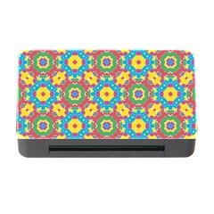 Geometric Multicolored Print Memory Card Reader With Cf by dflcprints