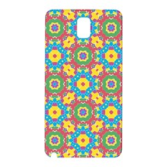 Geometric Multicolored Print Samsung Galaxy Note 3 N9005 Hardshell Back Case by dflcprints