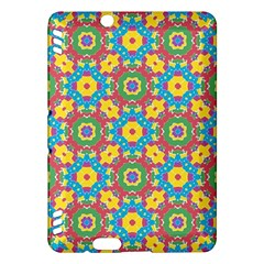 Geometric Multicolored Print Kindle Fire Hdx Hardshell Case by dflcprints