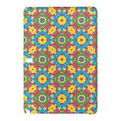 Geometric Multicolored Print Samsung Galaxy Tab Pro 12 2 Hardshell Case by dflcprints