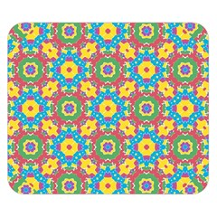 Geometric Multicolored Print Double Sided Flano Blanket (small)  by dflcprints