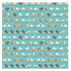 Assorted Birds Pattern Large Satin Scarf (square) by linceazul