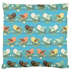 Assorted Birds Pattern Large Cushion Case (two Sides) by linceazul