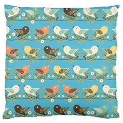 Assorted Birds Pattern Large Flano Cushion Case (one Side) by linceazul