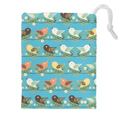 Assorted Birds Pattern Drawstring Pouches (xxl) by linceazul