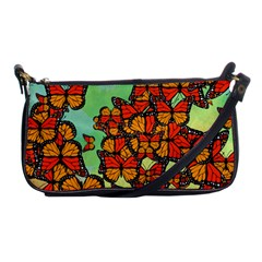 Monarch Butterflies Shoulder Clutch Bags by linceazul