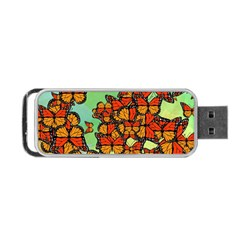 Monarch Butterflies Portable Usb Flash (two Sides) by linceazul