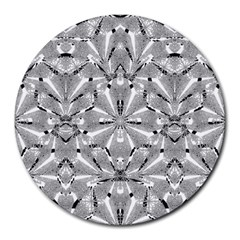 Modern Oriental Ornate Round Mousepads by dflcprints