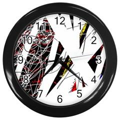 Art Wall Clocks (black) by Valentinaart