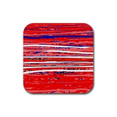 Art Rubber Square Coaster (4 Pack)  by Valentinaart