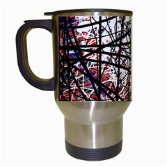 Art Travel Mugs (white) by Valentinaart
