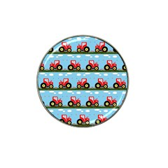 Toy Tractor Pattern Hat Clip Ball Marker by linceazul