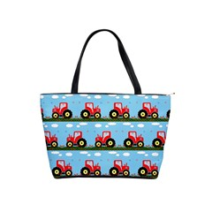Toy Tractor Pattern Shoulder Handbags by linceazul