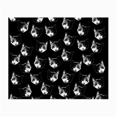 Cat Pattern Small Glasses Cloth (2 Side) by Valentinaart