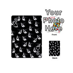 Cat Pattern Playing Cards 54 (mini)  by Valentinaart
