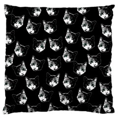 Cat Pattern Large Cushion Case (one Side) by Valentinaart