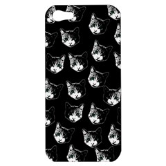 Cat Pattern Apple Iphone 5 Hardshell Case by Valentinaart