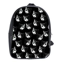 Cat Pattern School Bags (xl)  by Valentinaart