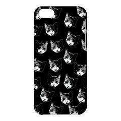 Cat Pattern Apple Iphone 5c Hardshell Case by Valentinaart