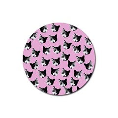 Cat pattern Rubber Coaster (Round)