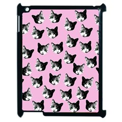 Cat Pattern Apple Ipad 2 Case (black) by Valentinaart