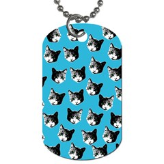 Cat Pattern Dog Tag (one Side) by Valentinaart