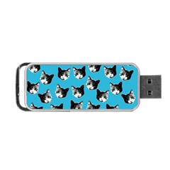 Cat Pattern Portable Usb Flash (two Sides) by Valentinaart