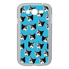 Cat Pattern Samsung Galaxy Grand Duos I9082 Case (white) by Valentinaart