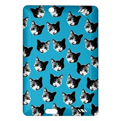 Cat Pattern Amazon Kindle Fire Hd (2013) Hardshell Case by Valentinaart