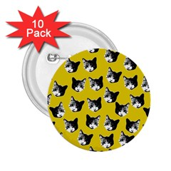 Cat Pattern 2 25  Buttons (10 Pack)  by Valentinaart