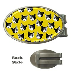 Cat Pattern Money Clips (oval)  by Valentinaart