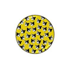 Cat Pattern Hat Clip Ball Marker by Valentinaart
