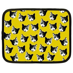 Cat Pattern Netbook Case (large) by Valentinaart