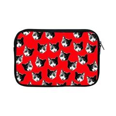 Cat Pattern Apple Ipad Mini Zipper Cases by Valentinaart