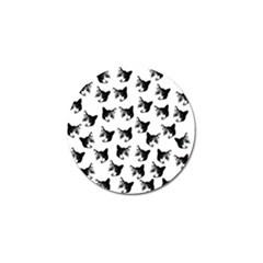 Cat Pattern Golf Ball Marker (4 Pack) by Valentinaart