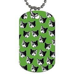 Cat Pattern Dog Tag (two Sides) by Valentinaart