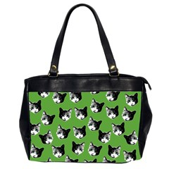 Cat Pattern Office Handbags (2 Sides)  by Valentinaart