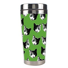 Cat Pattern Stainless Steel Travel Tumblers by Valentinaart