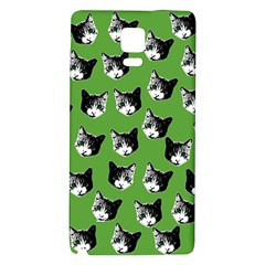 Cat Pattern Galaxy Note 4 Back Case by Valentinaart