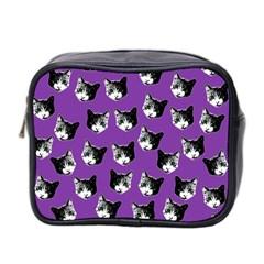 Cat Pattern Mini Toiletries Bag 2 Side by Valentinaart